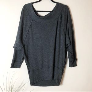 Free People Grey Off the Shoulder Top